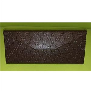 GUCCI Leather Eyeglasses Sunglasses Glasses Case